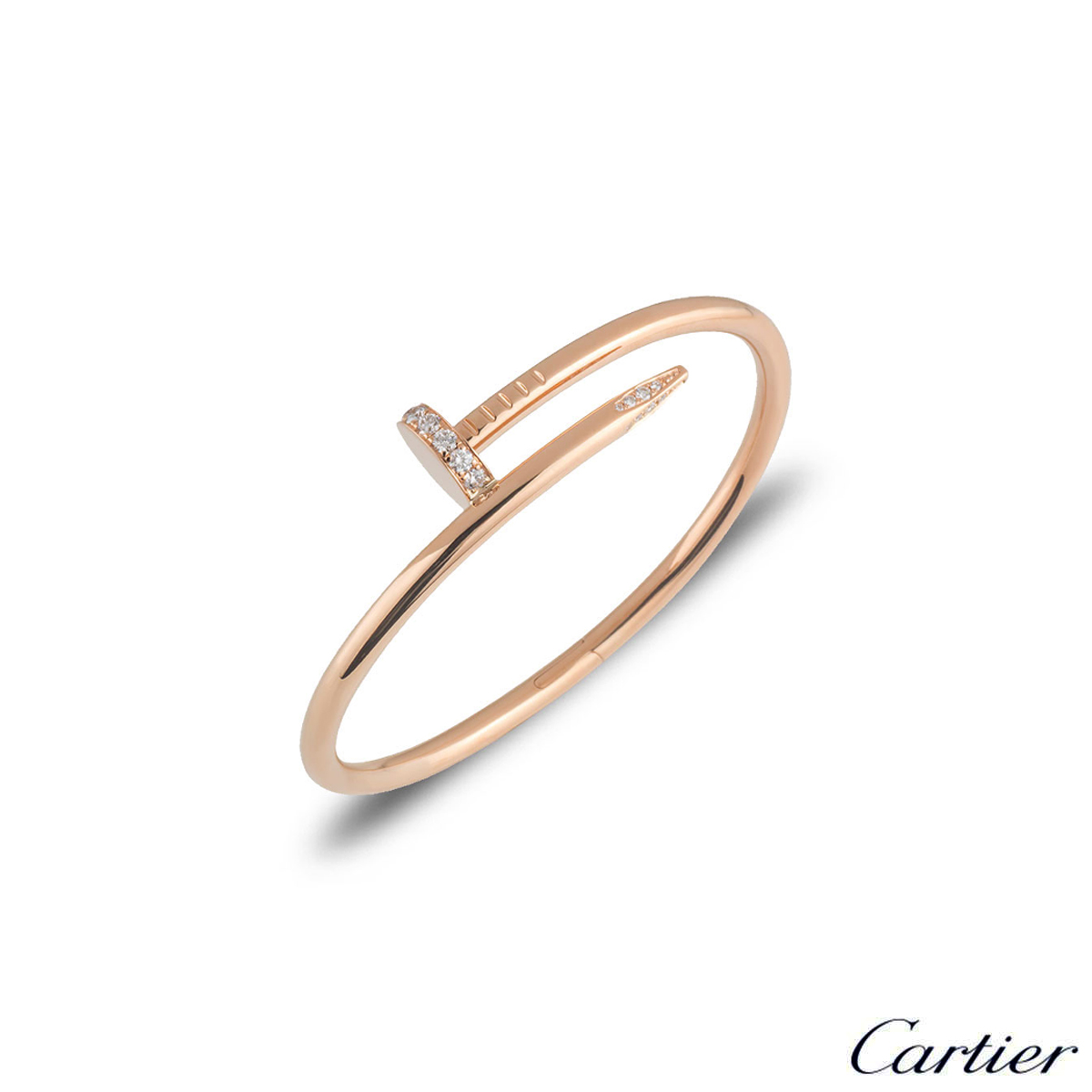 Cartier Rose Gold Diamond Juste Un Clou Bracelet Size 16 B6048516